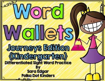 Kindergarten Word Wallets-Journeys Edition WITH Editable version