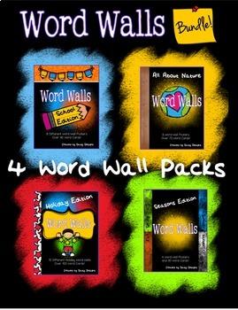 Word Walls BUNDLE - Holidays, Nature, School, Seasons