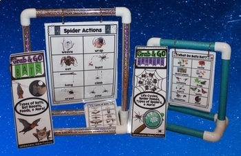 Word Walls: Bats and Spiders Word Lists