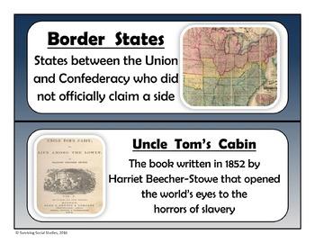 Word Walls & Caricatures Bundle - 13 Colonies - American Revolution - Civil War