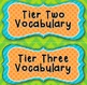 Word Walls: Colorful Tier One, Two, Three Vocabulary Titles / Headers