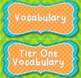 Word Walls: Colorful Tier One, Two, Three Vocabulary Title