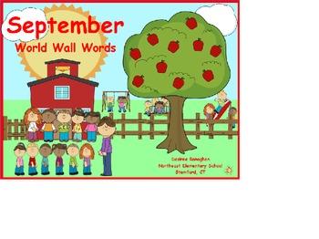 Word Walls: September-December
