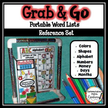 Word Walls | Desk Helper Reference Set | Colors, Shapes, Money, & More