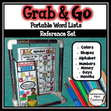 Word Walls | Desk Helper Reference Set | Colors, Shapes, M