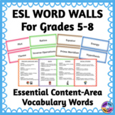 Word Walls for ELLs for Essential Content-Area Vocabulary