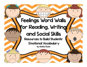 Word Walls with Feelings Theme--Designed for Students Writing Folders