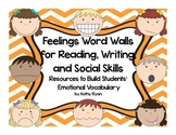 Word Walls with Feelings Theme--Designed for Students Writ