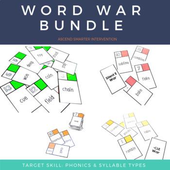 Word War Bundle - 6 Syllable Types