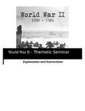 Socratic Seminar - Word War II - Common Core Aligned