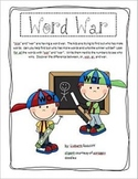Word War - words using 'wor' and 'war'
