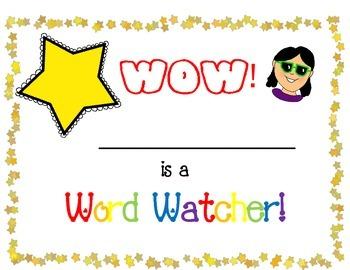 Word Watcher Certicates