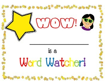 Word Watcher Certicates