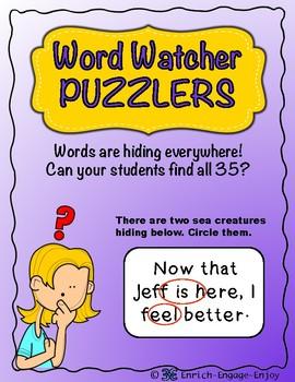 Word Watcher Puzzlers