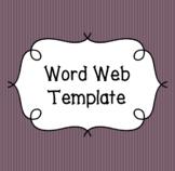 Word Web Template (Editable)