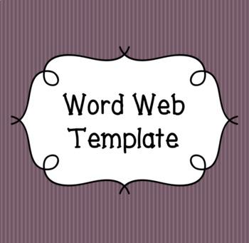 word web template worksheets \u0026 teaching resources tpt Circle Word Web Template