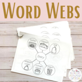 Word Webs Graphic Organizers Writing/Spelling Assistance