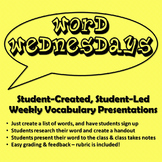 Word Wednesdays Student Vocabulary Presentations and Handouts