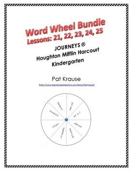 Word Wheel Bundel Unit 5 - Kindergarten Lessons 21,22,23,24,25