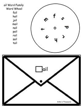 Word Wheel- ail word family