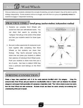 Word Wheels – Parts of Speech Activity