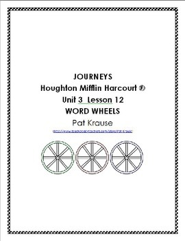 Word Wheels Journey Unit 3 Lesson 12