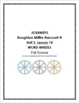 Journeys Kindergarten Word Wheels Unit 3 Lesson 14