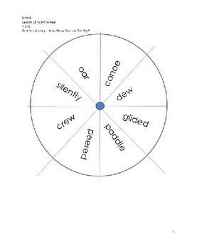 Word Wheels Journey Unit 4 Lesson 18