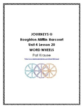 Word Wheels Journey Unit 4 Lesson 20