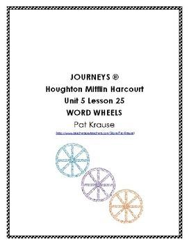 Word Wheels Journey Unit 5 Lesson 25