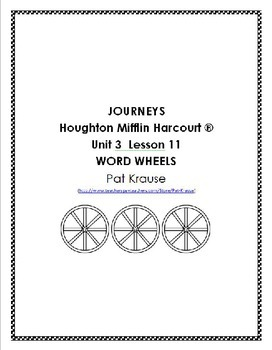 Journeys Kindergarten Word Wheels Unit 3 Lesson 11