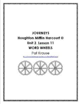 Journeys Kindergarten Word Wheels Unit 3 Lesson 11