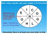 Word Wheels Warm Up English Game