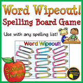 Word Wipeout! Spelling Game for any word list - School Theme