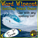 Word Wipeout! Spelling Game for any Word List. 2nd - 3rd Grade