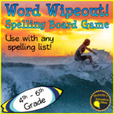 Word Wipeout! Spelling Game for any Word List. 4th – 6th Grade