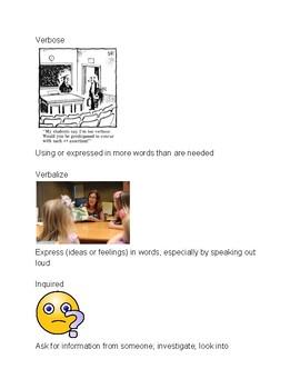 Word Wisdom Unit 1 Part 3 Vocabulary Flash Cards