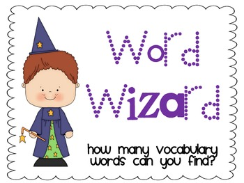 Word Wizard Cards and Mini Poster for Word Wizard Chart