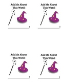 Word Wizard Vocabulary Cards