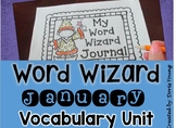 Word Wizard: Vocabulary Journal for January