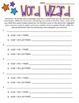 Word Wizard Worksheet- Centers, Literacy, Workstations, In