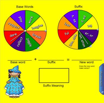 Word Wizards Prefixes Suffixes Smartboard