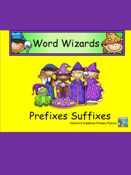 Word Wizards Prefixes Suffixes Smartboard