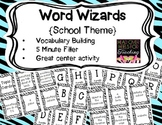 Word Wizards Vocabulary Building Card Game {School Theme}