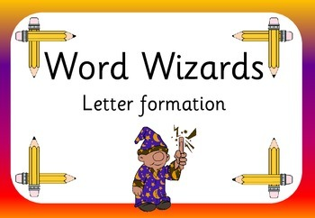 Word Wizards letter formation