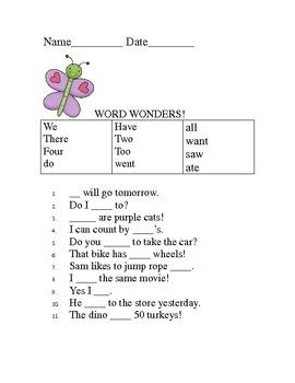 Word Wonders (sight-words)