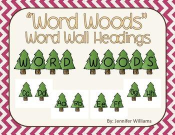 Word Woods Word Wall Headers