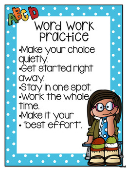 Word Work Practice...each and every day!