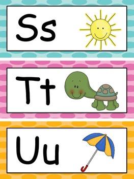 Word Wall - Polka Dots (Pre-Primer Through 2nd grade Words)