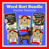 Syllable Types | Spelling Sorts | DOG THEMED Bundle